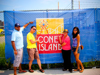 The crew head to Coney Island