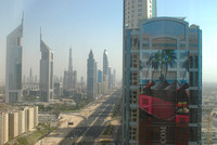 View of Dubai from my room